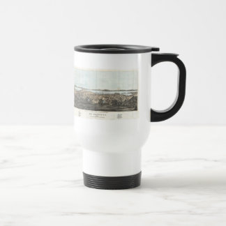 Vintage Pictorial Map of San Francisco (1854) Travel Mug