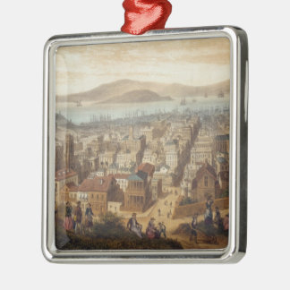 Vintage Pictorial Map of San Francisco (1860) Christmas Ornament