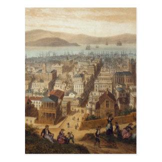 Vintage Pictorial Map of San Francisco (1860) Postcard