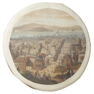 Vintage Pictorial Map of San Francisco (1860) Sugar Cookie