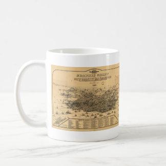 Vintage Pictorial Map of San Francisco (1875) Coffee Mug