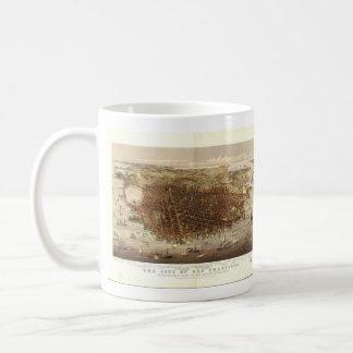 Vintage Pictorial Map of San Francisco (1878) Coffee Mug