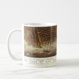 Vintage Pictorial Map of San Francisco (1878) Classic White Coffee Mug