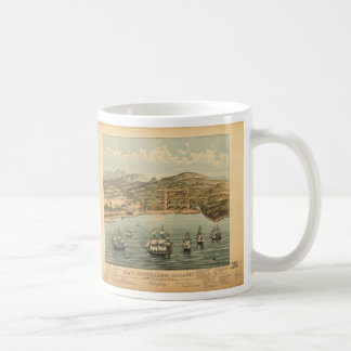 Vintage Pictorial Map of San Francisco (1884) Coffee Mug