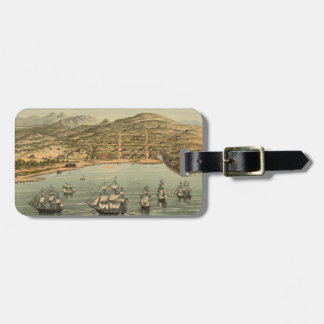 Vintage Pictorial Map of San Francisco (1884) Luggage Tag