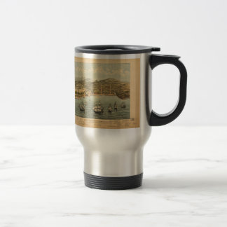 Vintage Pictorial Map of San Francisco (1884) 15 Oz Stainless Steel Travel Mug