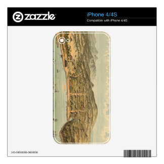 Vintage Pictorial Map of San Francisco (1884) Decal For The iPhone 4