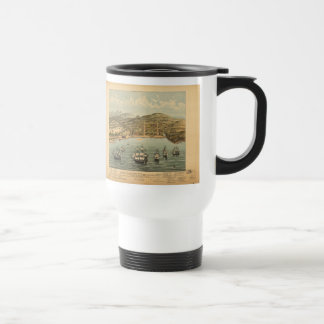 Vintage Pictorial Map of San Francisco (1884) Travel Mug