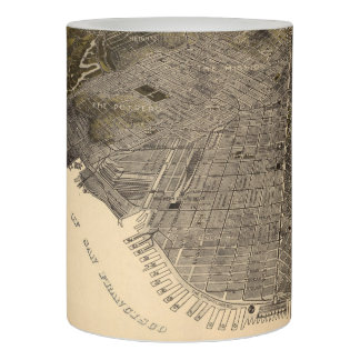Vintage Pictorial Map of San Francisco (1915) Flameless Candle