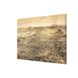 Vintage Pictorial Map of San Jose CA (1869) Canvas Print