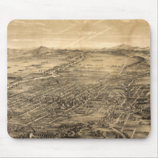 Vintage Pictorial Map of San Jose CA (1869) Mouse Pad