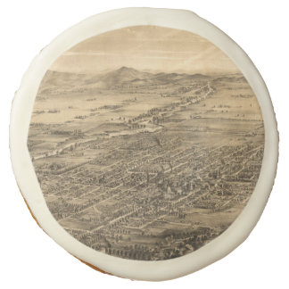 Vintage Pictorial Map of San Jose CA (1869) Sugar Cookie