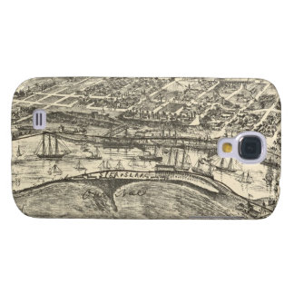 Vintage Pictorial Map of San Pedro (1902) Samsung S4 Case