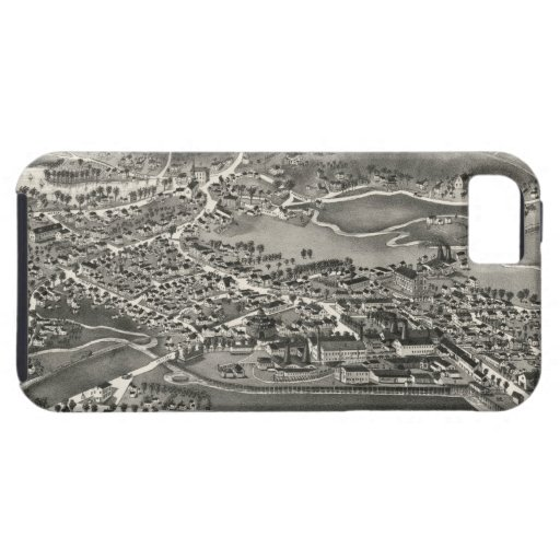 Vintage Pictorial Map of Sandwich MA (1884) iPhone 5 Covers