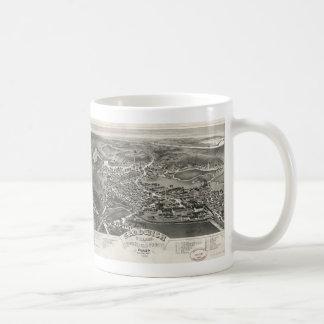 Vintage Pictorial Map of Sandwich MA (1884) Coffee Mug