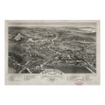 Vintage Pictorial Map of Sandwich MA (1884) Posters