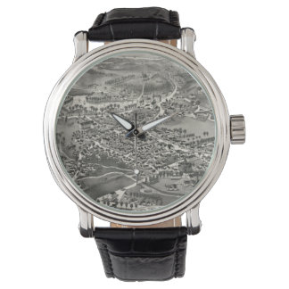Vintage Pictorial Map of Sandwich MA (1884) Wrist Watch