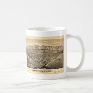 Vintage Pictorial Map of Santa Barbara CA (1877) Coffee Mug