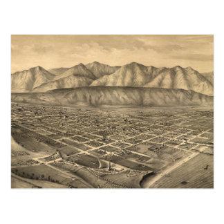 Vintage Pictorial Map of Santa Barbara CA (1877) Postcard