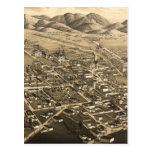 Vintage Pictorial Map of Santa Fe (1882) Post Cards