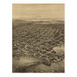 Vintage Pictorial Map of Seattle (1878) Post Cards