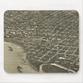 Vintage Pictorial Map of Sioux City Iowa (1888) Mouse Pad