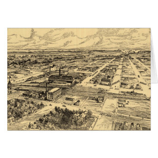 Vintage Pictorial Map of Southern Milwaukee (1906) Card