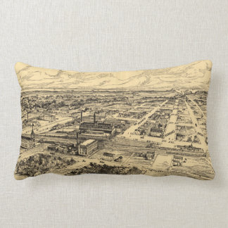 Vintage Pictorial Map of Southern Milwaukee (1906) Lumbar Pillow