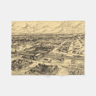Vintage Pictorial Map of Southern Milwaukee (1906) Fleece Blanket