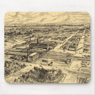 Vintage Pictorial Map of Southern Milwaukee (1906) Mouse Pad