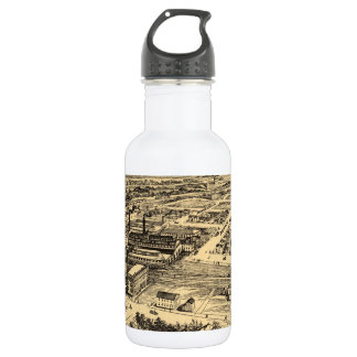 Vintage Pictorial Map of Southern Milwaukee (1906) Stainless Steel Water Bottle