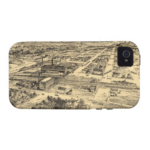 Vintage Pictorial Map of Southern Milwaukee (1906) Vibe iPhone 4 Covers