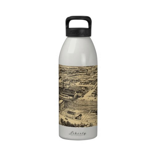 Vintage Pictorial Map of Southern Milwaukee (1906) Reusable Water Bottle