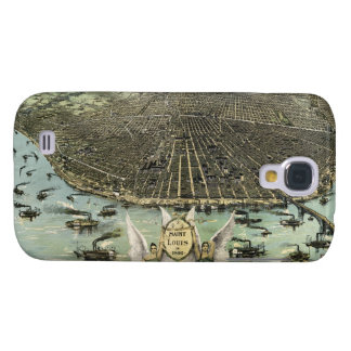 Vintage Pictorial Map of St. Louis (1896) Galaxy S4 Cover