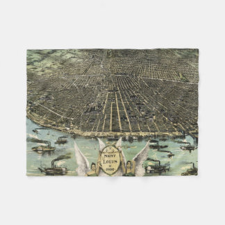 Vintage Pictorial Map of St. Louis (1896) Fleece Blanket