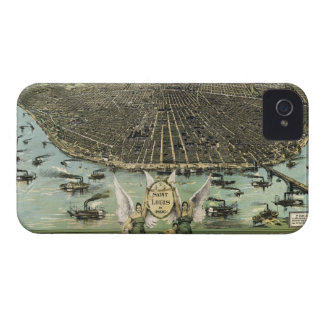 Vintage Pictorial Map of St. Louis (1896) iPhone 4 Cover