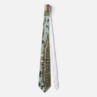 Vintage Pictorial Map of St. Louis (1896) Neck Tie