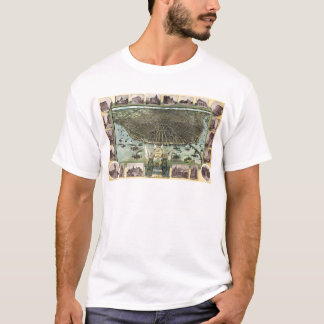 Vintage Pictorial Map of St. Louis (1896) T-Shirt