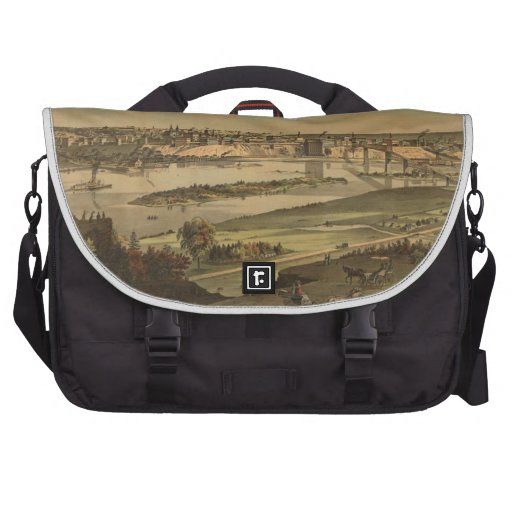 Vintage Pictorial Map of St. Paul Minnesota (1874) Laptop Bag