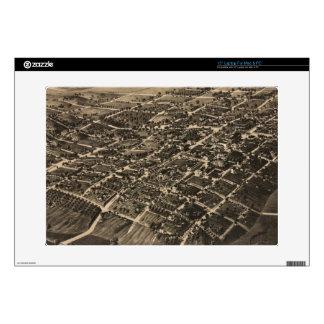"Vintage Pictorial Map of Tallahassee FL (1885) 15"" Laptop Skins"