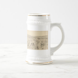Vintage Pictorial Map of The Grand Canyon (1895) Beer Stein