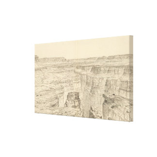 Vintage Pictorial Map of The Grand Canyon (1895) Canvas Print