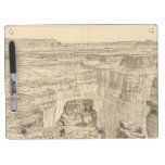 Vintage Pictorial Map of The Grand Canyon (1895) Dry Erase Board