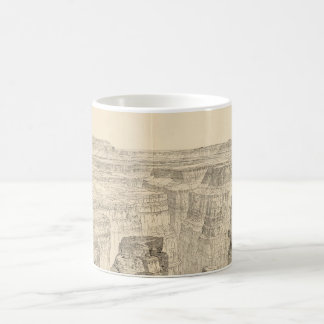 Vintage Pictorial Map of The Grand Canyon (1895) Coffee Mug