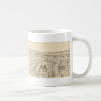 Vintage Pictorial Map of The Grand Canyon (1895) Coffee Mugs