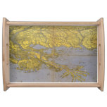 Vintage Pictorial Map of The Gulf (1861) Serving Platter