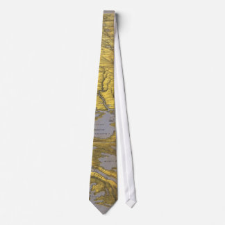 Vintage Pictorial Map of The Gulf (1861) Tie