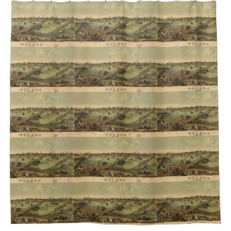 Vintage Pictorial Map of Toledo Ohio (1876) Shower Curtain
