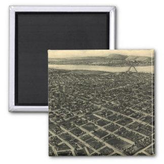 Vintage Pictorial Map of Tulsa (1918) Magnet