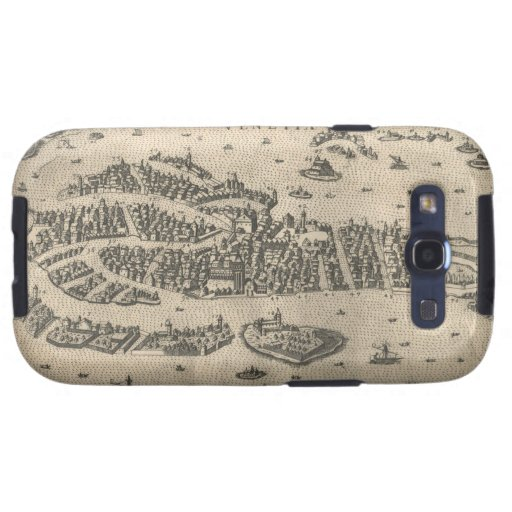 Vintage Pictorial Map of Venice Italy (1573) Samsung Galaxy S3 Cases